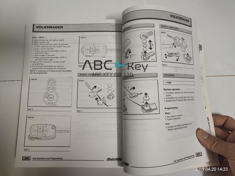 Autodata Key Programming and Service Indicator Book-ABC-Key